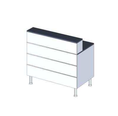 Schreibplatzcounter, L 100 x T 60 x H 73/93cm