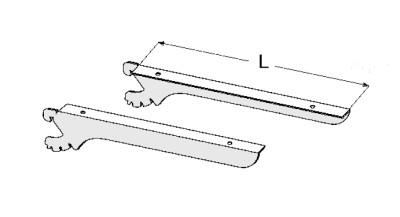 Konsolen für Glas/Holzfachböden