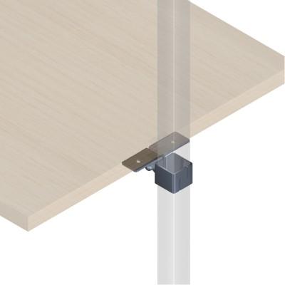 Holzplattenhalter für 25x25mm Vierkantrohr