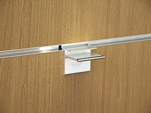 Glasplattenträger Länge 50mm für 8mm