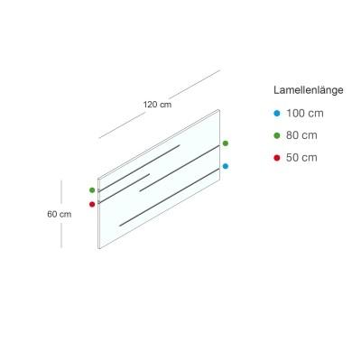 Lamellenwand TRIC & TRAC 120x60cm