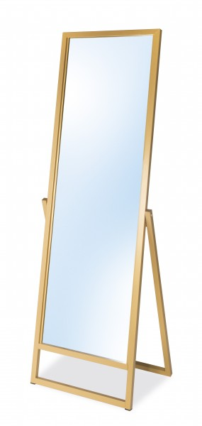 Standspiegel goldfarbig lackiert