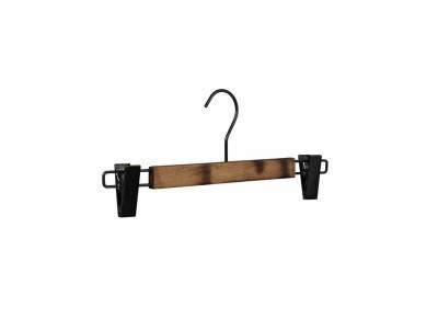 Clip-Holzkleiderbügel VINTAGE-BRAUN, L35cm (VE 50 Stück)