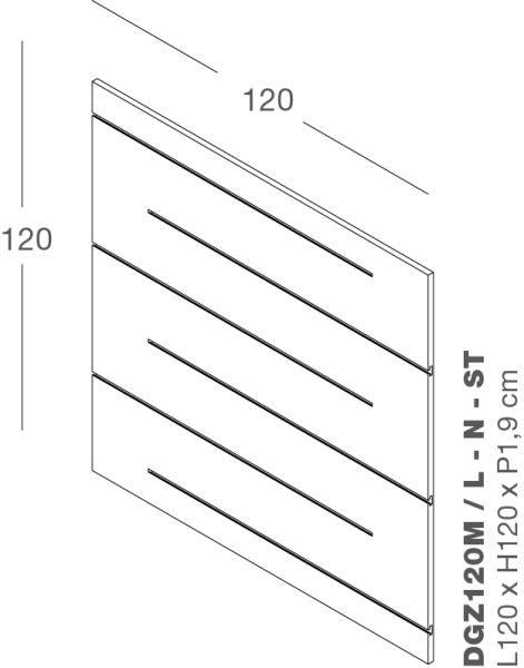Lamellenwand ZIGO ZAGO 120x120cm