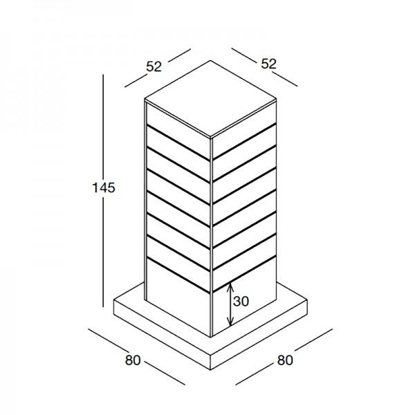 Mittelraum-Turm