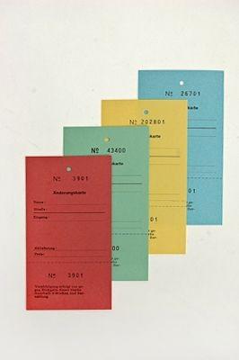 Änderungskarten für Schneiderei 100 Stück