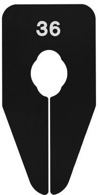 Größentrenner schwarz/weiß