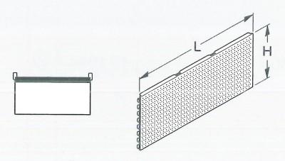 Rückwand Schlüssellochung Höhe 40cm