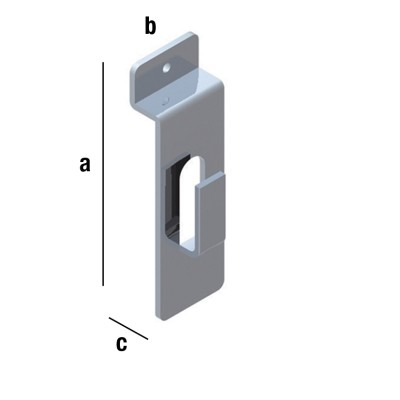 Einfachhaken L 10mm, verchromt