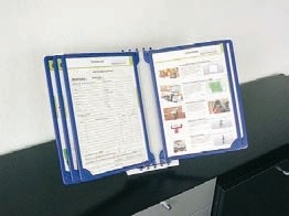 Infohalter mit 8 Rahmen DIN A4, Wandmontage