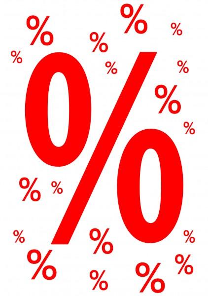 """Rahmenplakat """"%""""-Zeichen"""