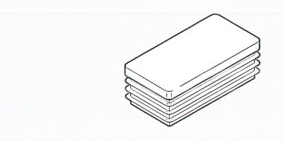 Deckkappe für Säule 60x30mm