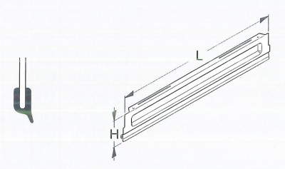 Sockelblende Höhe 16cm