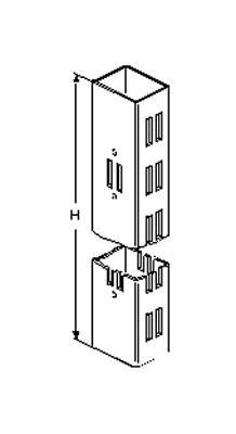 Säule aus Rohr 60x30x2mm